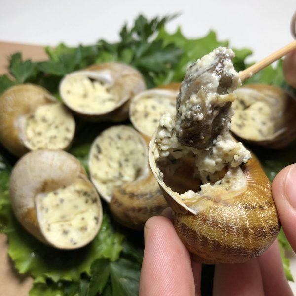 Эскаргот с мясом улитки по французски